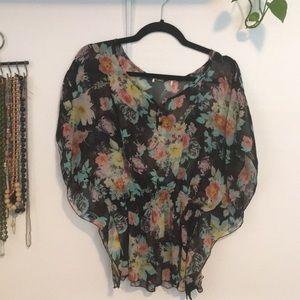 ☀️ Sheer Floral top
